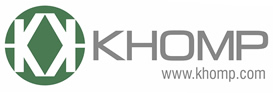 Logotipo Khomp parceria DONN
